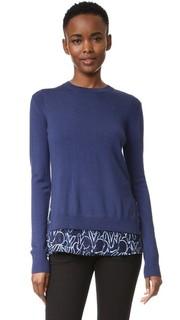 Пуловер с принтом в виде кролика Grey Jason Wu