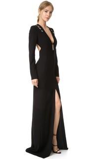 Вечернее платье с длинными рукавами Mugler