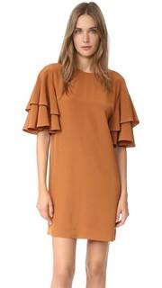 Свободное платье с оборчатыми рукавами Tibi