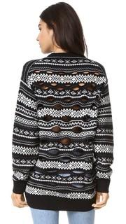 Пуловер с жаккардовым узором и прожженной вставкой Alexander Wang
