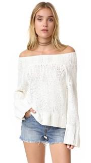 Пляжный пуловер с напуском Free People
