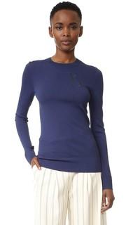 Пуловер с контрастной отделкой Grey Jason Wu