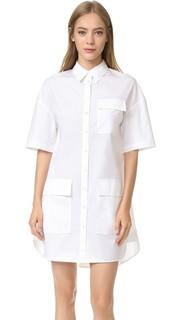 Свободное платье-рубашка из рубашечной ткани Grey Jason Wu