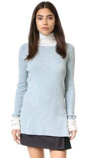 Трикотажный свитер с воротником под горло Sjyp