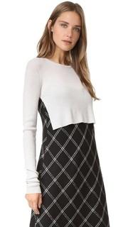 Пуловер в рубчик в стиле болеро Tibi
