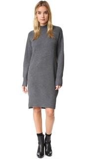 Кашемировое платье-свитер с разрезами по бокам Dkny