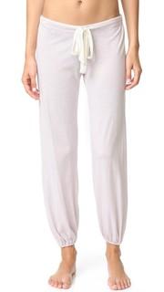Пестрые укороченные пижамные брюки Eberjey