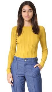 Пуловер из технологичной ткани в рубчик Milly