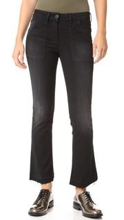 Укороченные джинсы-буткат W2 Baby в стиле милитари 3x1