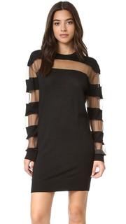 Платье в прозрачную полоску McQ - Alexander Mc Queen