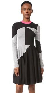 Платье-свитер с цветными блоками
