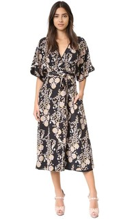 Нарядное платье-халат Cynthia Rowley
