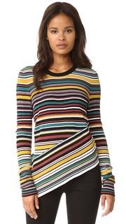 Пуловер с разнонаправленными полосками Milly