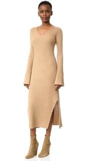 Кашемировое платье-свитер в рубчик Derek Lam