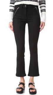 Укороченные брюки с накладными карманами Veronica Beard