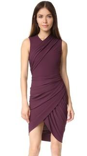 Платье без рукавов с асимметричной драпировкой Alexander Wang