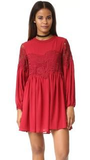 Комбинированное платье из ткани и кружева Endless Rose