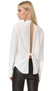 Блуза с узлом на спине Helmut Lang
