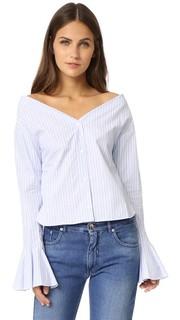 Блуза с развевающимися рукавами Jacquemus