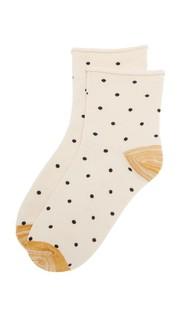 Носки до середины щиколотки с мелким рисунком в горошек Madewell