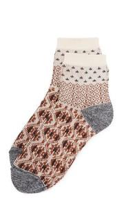 Носки до щиколотки с цветными блоками с рисунком из материала средней тяжести Madewell