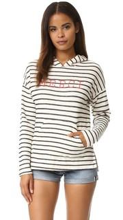 Пуловер с капюшоном и вышитой надписью «Merci» Sundry