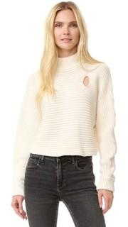 Укороченный пуловер с воротником под горло Alexander Wang