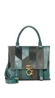 Миниатюрная сумка через плечо Avenue A в лоскутной технике Derek Lam 10 Crosby
