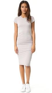 Узкое платье с короткими рукавами James Perse