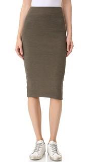 Узкая юбка из плотной ткани в рубчик James Perse
