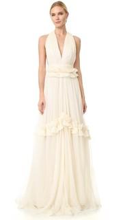 Вечернее платье с V-образным вырезом Maria Lucia Hohan