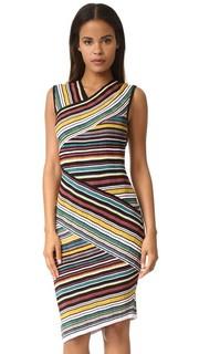 Платье-футляр с разными полосками Milly