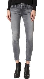 Потрепанные джинсы Looker до щиколотки Mother