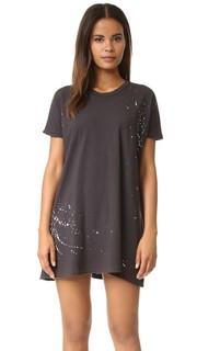 Платье-футболка в стиле туники с брызгами краски Sundry