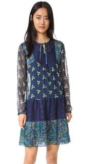 Комбинированное платье Flourish с принтом Anna Sui
