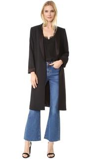 Длинный пиджак Kylie с объемным воротником-шалью Alice + Olivia