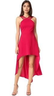 Платье в разноцветную полоску Halston Heritage