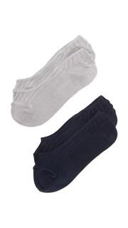Набор невидимых под обувью носков из окрашенных волокон Madewell