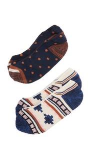 Набор невидимых носков с рисунком в сельском стиле/в мелкий горошек Madewell