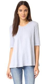 Трапециевидная футболка с рукавами по локоть Wilt
