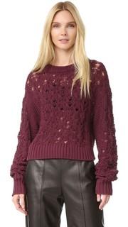 Пуловер из трикотажа жемчужной вязки и вязки косичками Public School