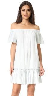 Платье из газовой ткани с открытыми плечами Rebecca Taylor