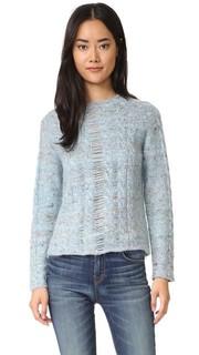 Пуловер с вязкой косичкой Raquel Allegra