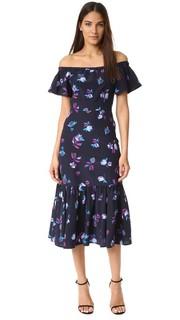 Платье Bell с открытыми плечами и цветочным рисунком Rebecca Taylor