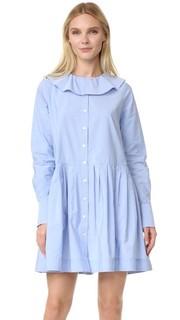 Платье на пуговицах с воротником Sea