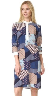 Платье-рубашка в стиле пэчворк Sea