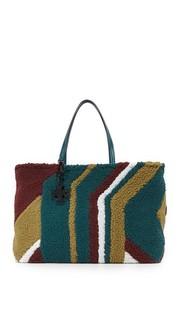 Объемная сумка Britten из искусственного меха с короткими ручками Tory Burch