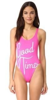 Сплошной купальник Good Times Chrldr