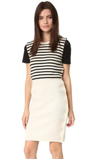 Платье-свитер в полоску MM6
