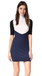 Платье с цветными блоками MM6